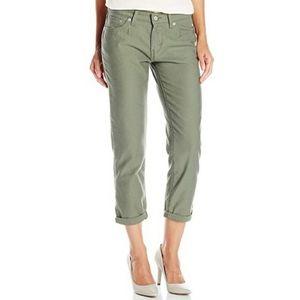 Levi's Boyfriend Jeans in Olive Green
